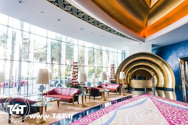 آفر تور دبی از مشهد لابی لاکچری هتل برج العرب