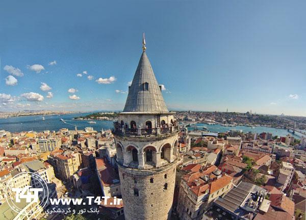 برج گالاتا تور استانبول از مشهد و تهران
