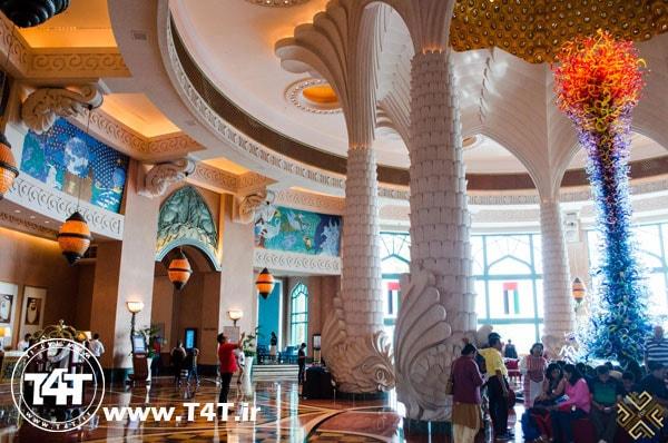 قیمت تور دبی از مشهد لابی هتل آتلانتیس دبی atlantis dubai